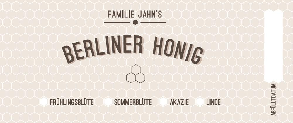 Etikette Berliner Honig